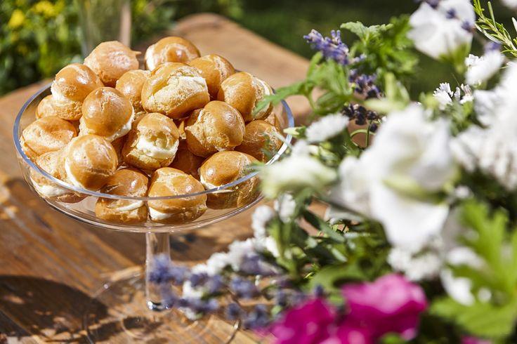Chantilly creme filled choux