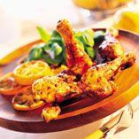 Citronmarinerede kyllingelår - Opskrifter    http://www.dansukker.dk/dk/opskrifter/citronmarinerede-kyllingelaar.aspx  #dansukker #kylling #citron #grill #sommer #opskrift