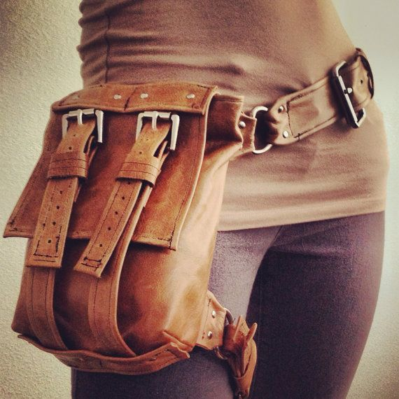 Explorer TAN Hip Bag by JessicaHaeckel on Etsy, $125.00