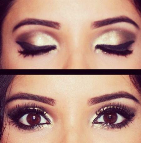 Les 25 meilleures id es de la cat gorie maquillage des yeux noisette sur pinterest fard - Maquillage mariage yeux marron ...