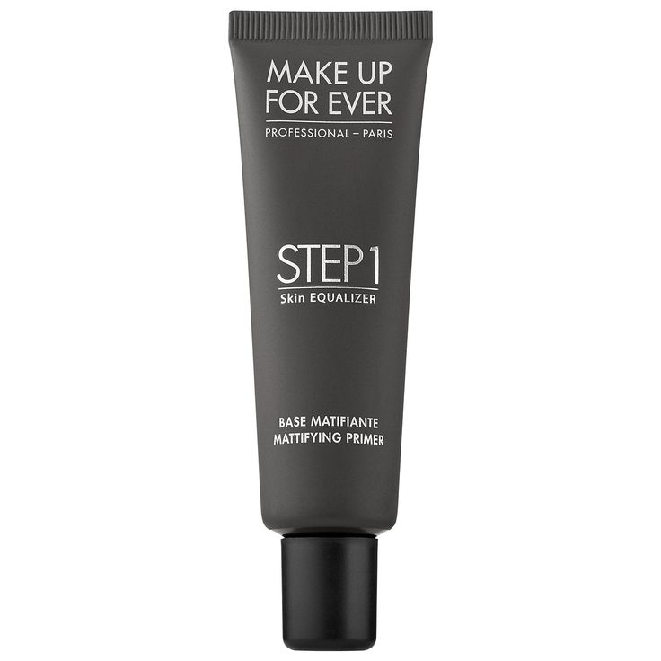 Step 1 Skin Equalizer: Mattifying Primer for Oily Skin || MAKE UP FOR EVER || A primer that helps keep skin oil-free all day. From: Clairemarshall. Tip: Apply and quickly set with foundation, because this stuff sets pretty fast and will pill if you wait too long