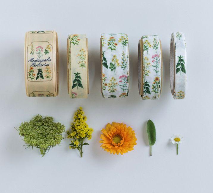 nastri decorativi erbe mediche #greenandglam #ellenhidding #flower #ribbon #nature