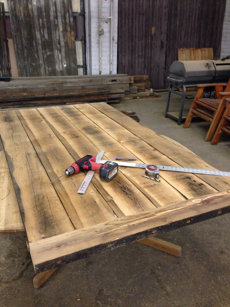 Beautiful Plank Table In Progress. This Is Gorgeous Wood!