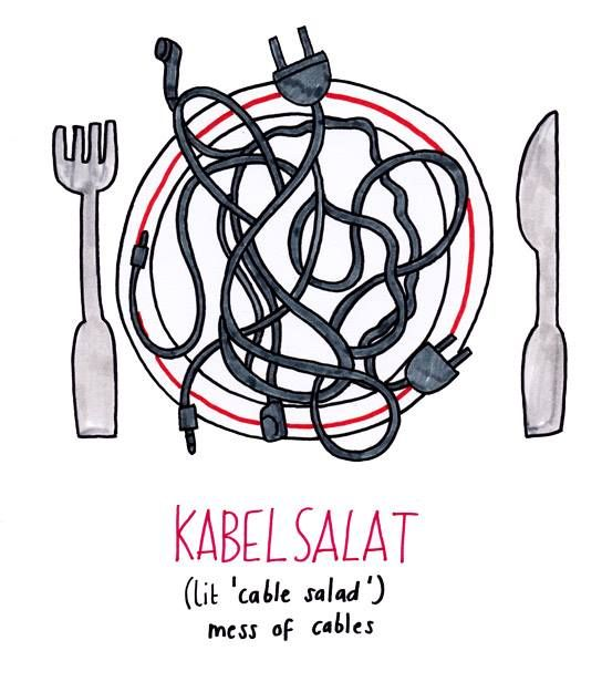 Great German words: Kabelsalat.