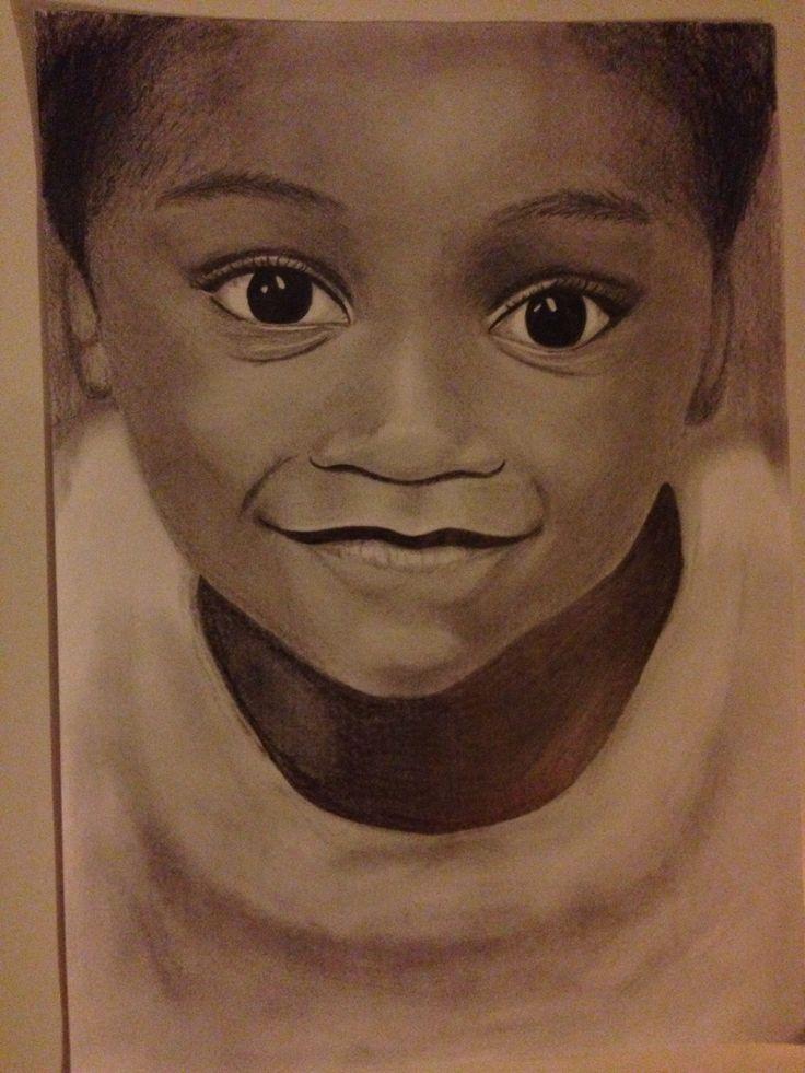 Cute child - portrait drawing, dorottyaart.com