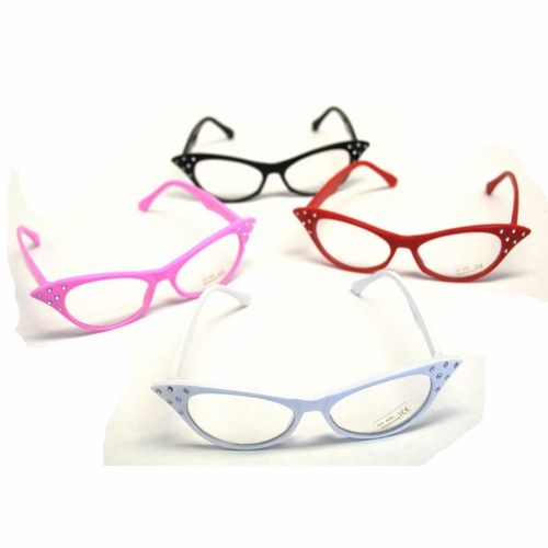 These cat eye glasses are a great costume accessory for your tea party, also great for a 50s retro party. Complete your Halloween costume with killer costume accessories. Your costume isn't ready until you deck it out with sunglasses, hats, boas, masks and more.
