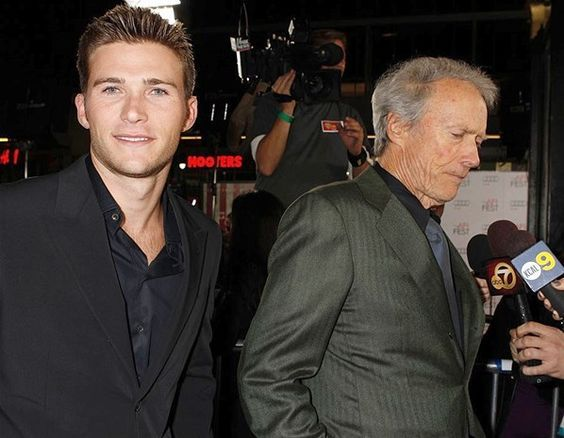 Father and Son - Clint and Scott Eastwood (© Rex):