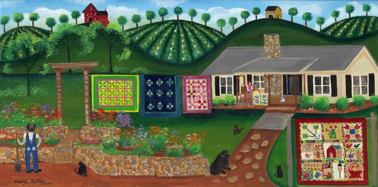 Donna's Country Quilt House Painting
