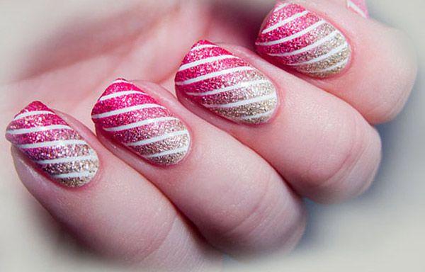Uñas decoradas con rayas, uñas decoradas con rayas.   #uñasdecoradas #colournailart #uñasvistosas