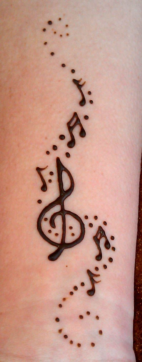 Henna Crosses Henna Designs Behind Ear Tattoo Music Henna Tattoos ...