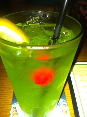 The cousin of the Long Island Iced Tea! The Tokyo Iced Tea! Tried it, more girly drink but easier to drink.  -Trisha :)