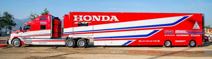 Honda Hauler Motorsports Peterbilt Race Transporters