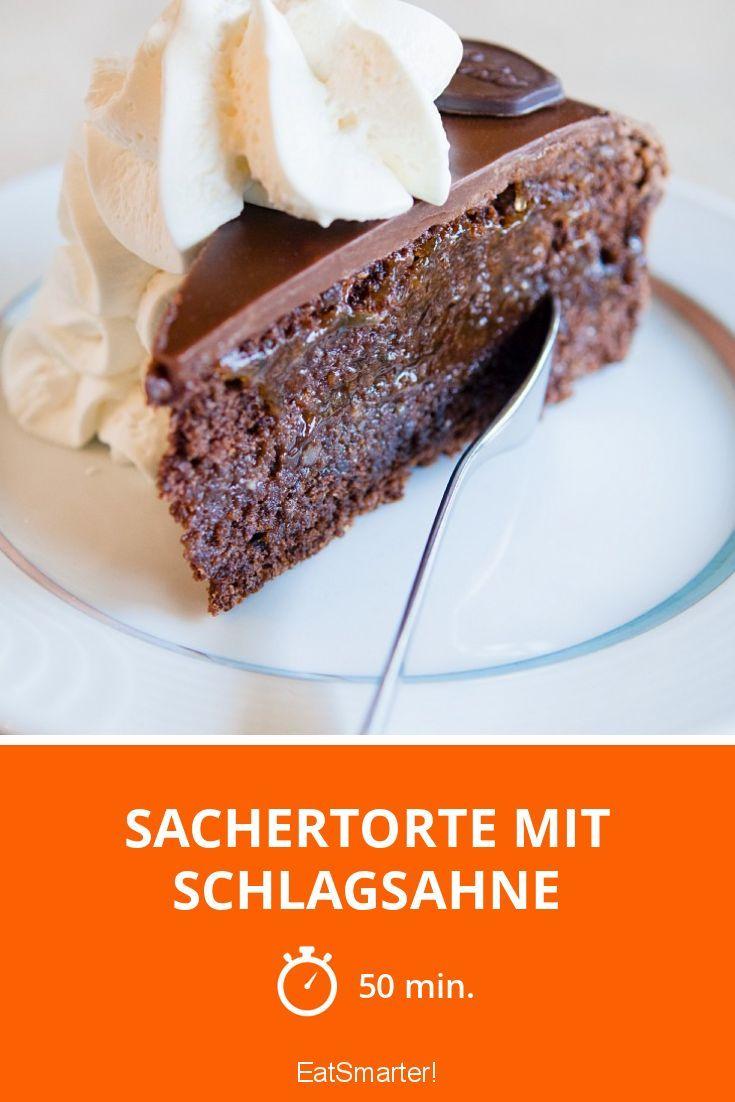 Sachertorte mit Schlagsahne - smarter - Zeit: 50 Min. | eatsmarter.de