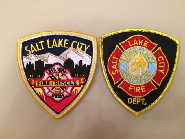 Set: 2 Patch Salt Lake City Fire Department Emergency Services Original New Rar | eBay