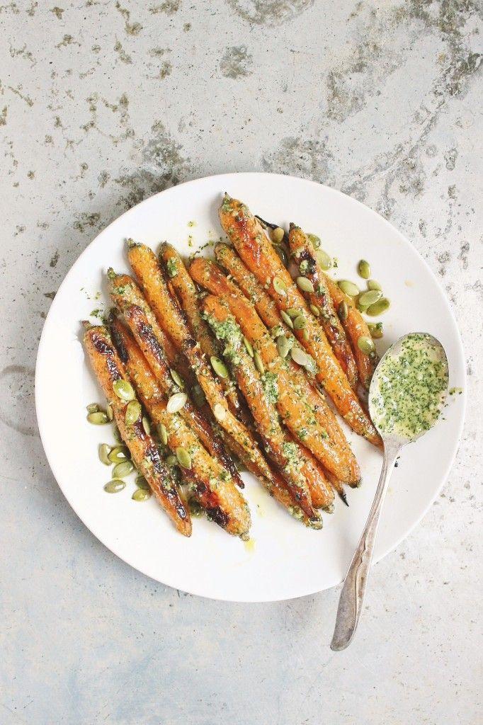 Roasted Spring Carrots with Lemony Dill Pesto | Spring ...