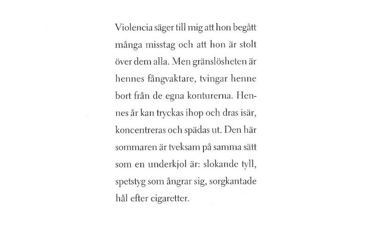 Violencia, Lina Hagelbäck