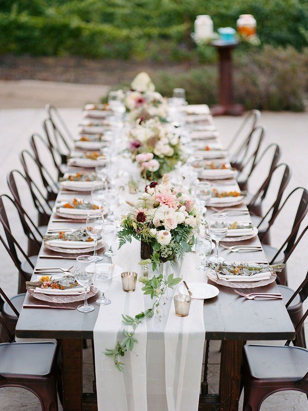 Elegant Wedding Reception Tables Chic Event Rentals Table Arrangements Wedding Vintage Wedding Centerpieces Long Table Centerpieces