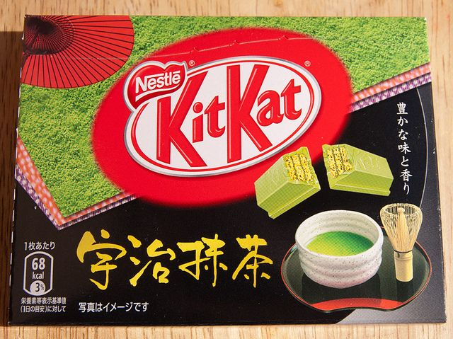 Green Tea Kit Kat, Japan. Latest packaging for the classic size. by kalvin1974, via Flickr