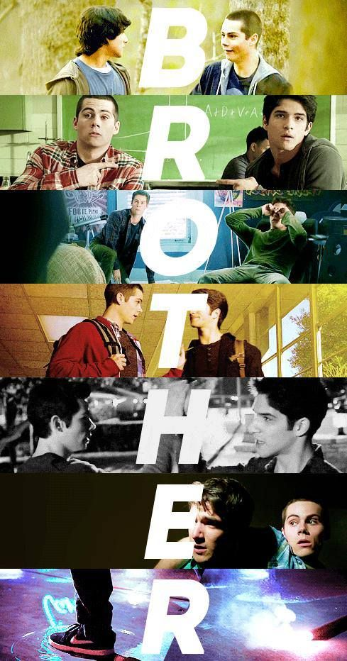 Tyler Posey and Dylan O'Brien as Scott McCall and Stiles Stilinski in Teen Wolf