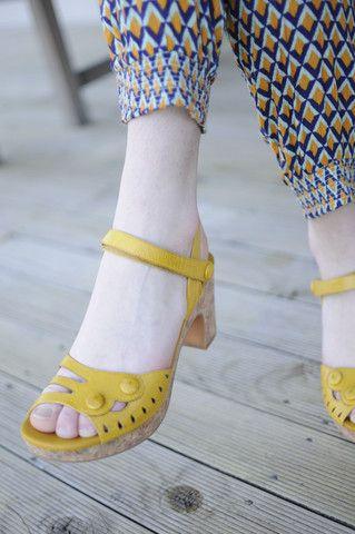 Beatiful Miz Mooz shoes... Love this yellow