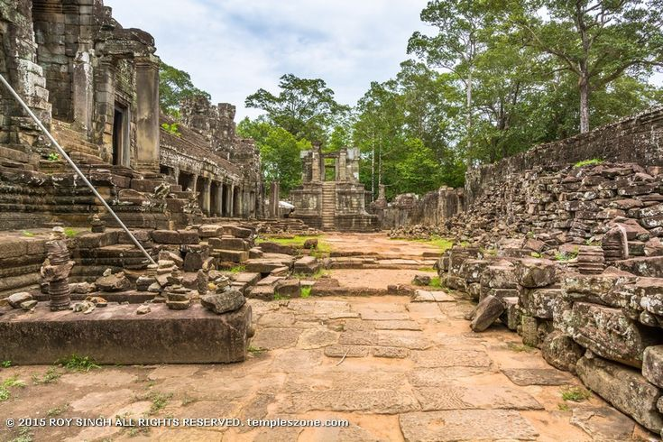 Although the Bayon was a Buddhist temple, other Hindu deities were also worshiped. Separate shrines were dedicated to Vishnu and Shiva, while countless other deities were worshiped.