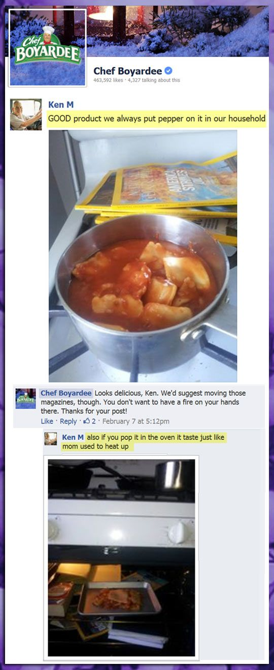 Cooking With Ken. Chef Boyardee. Facebook. Remove magazines. omgosh too funny