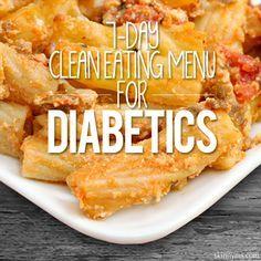 7-Day Clean Eating Menu for Diabetics #diabetic #cleaneating #menu