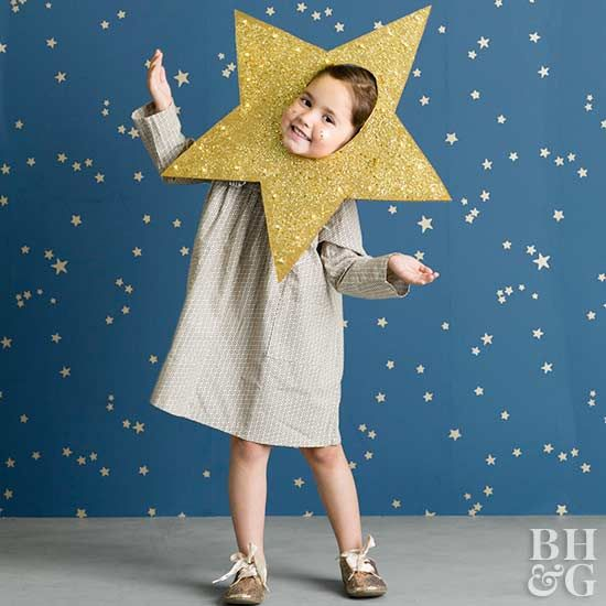 This easy DIY costume will make your child shine bright through an adorable star cutout.