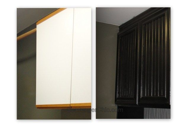 Oak And Laminate Cabinet Refacing Cabinet Door Makeover