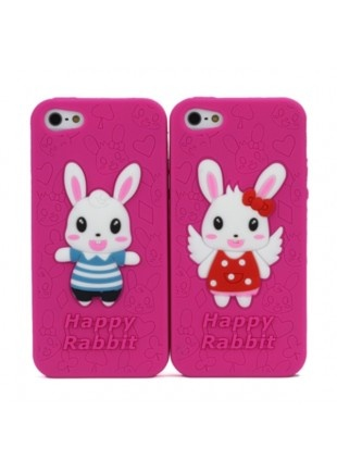"Lot de 2 coque souple ""Happy Rabbit"" fushia en relief pour iPhone 5 http://www.phonewear.fr/15936-thickbox/lot-de-2-coque-souple-happy-rabbit-fushia-en-relief-pour-iphone-5.jpg   14,90€"