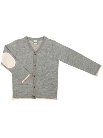 FUB - Cardigan Grey 100% merino wool www.markusogmolly.no
