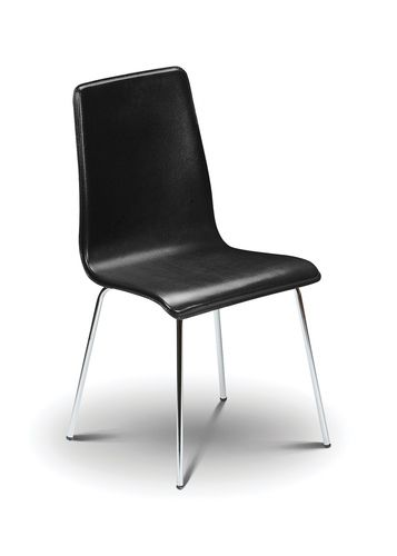 mandy dining chair, leather dining chair, black dining chair, ireland dining chair, black leather dining chair