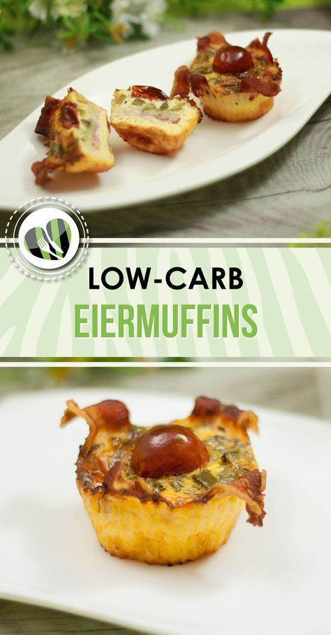 Die Eiermuffins sind eine leckere Low-Carb Alternative. Sie schmecken ausgezeichnet als Snack oder Hauptspeise.