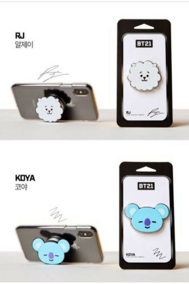 f1d179ccaaa Official BT21 Griptok is the perfect pop socket to decorate your phone! #bts  #bt21 #rj #koya #ad