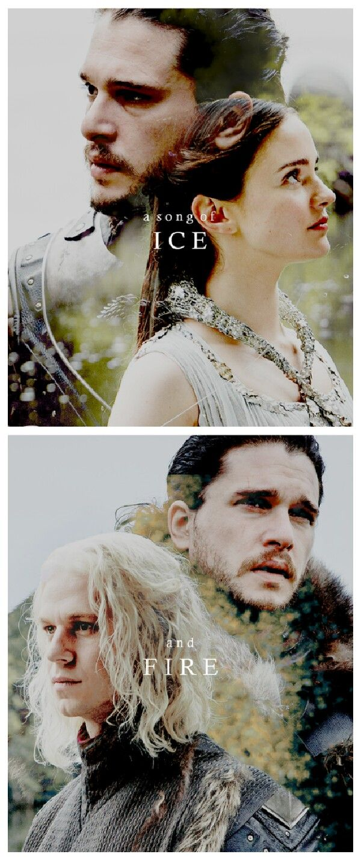 A song of Ice and Fire Lyanna Stark and Rhaegar Targaryen #aegontargaryen #asoiaf #GameofThrones