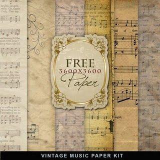 printable vintage music paper. Instead of using original sheet music, here are printable alternatives.