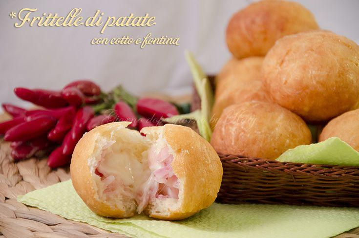 Frittelle di patate farcite con cotto e fontina