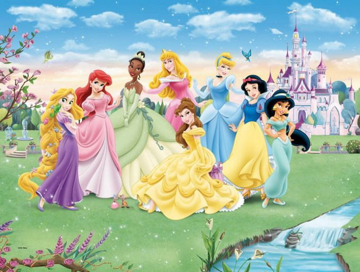 Beautiful disney princess wall mural wallpaper mural for Disney princess wall mural tesco