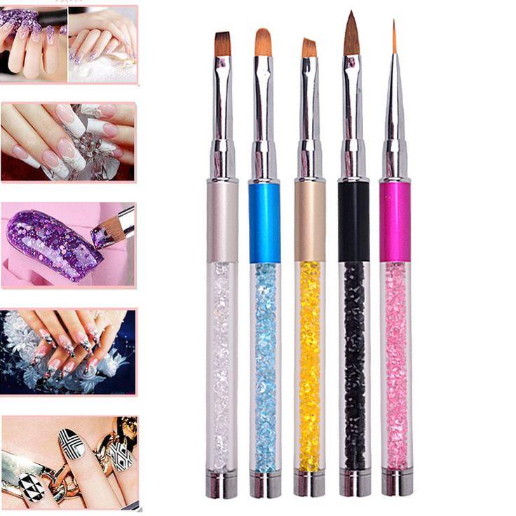 1PCS GEL Acrylic Nail Art Dotting Painting Brush Nail Art Tips Design Nail Tools UV Gel Manicure Tool Nail Art Pen With Cap