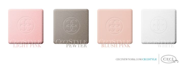 CeciStyle v139: Ceci's Color Stories - Light Pink & Pewter Wedding Colors - color swatches, light pink, pewter, blush pink, white, wedding