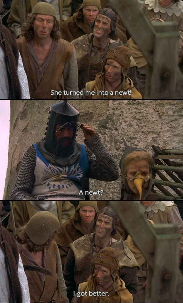 "From beginning to end... | 18 Glorious Moments From ""Monty Python And The Holy Grail"".   Love love love this movie!"