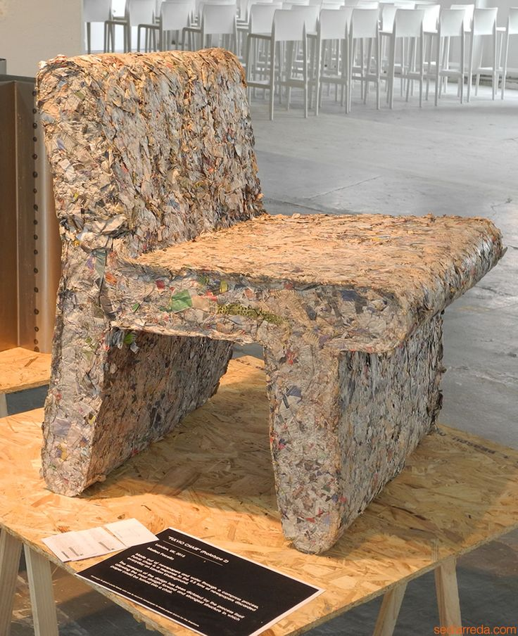 Fulvio Chair by Matteo Pacella made with newspapers