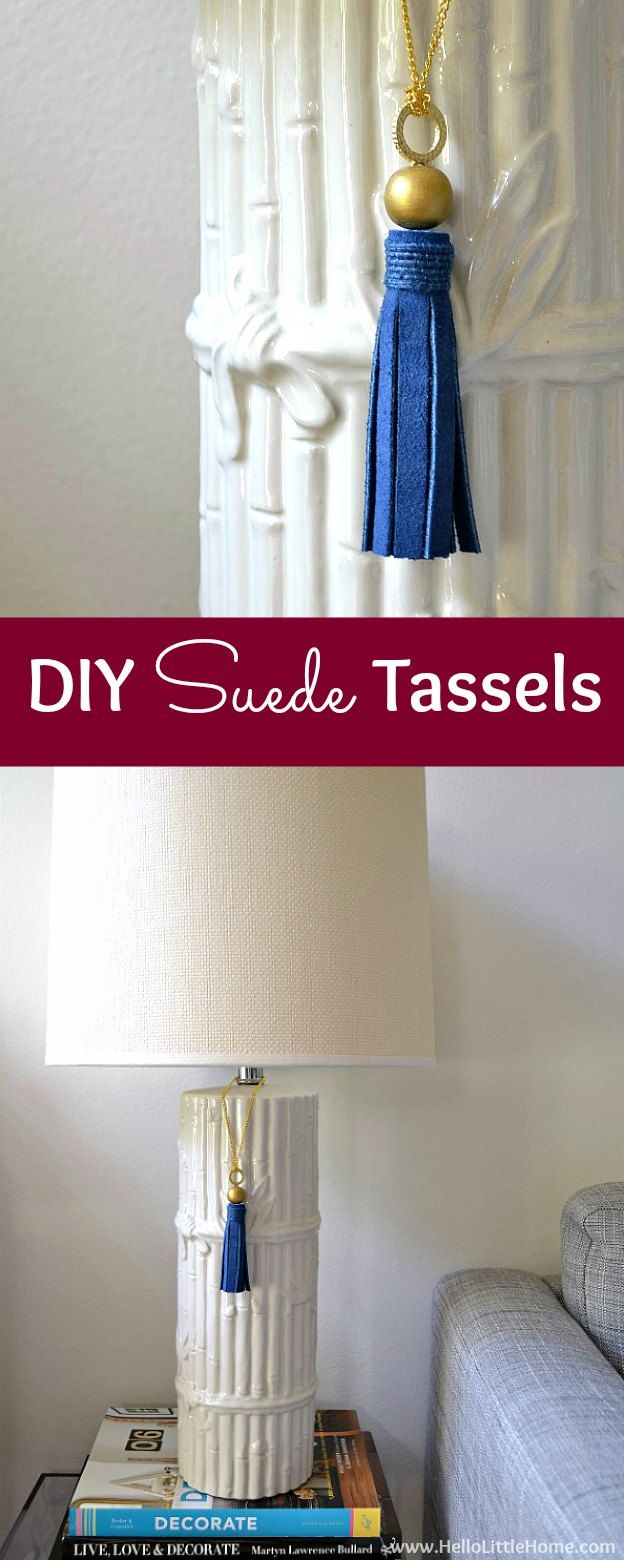 3574 best images about craft room party everybody s board on dress up your home with these gorgeous and easy to make diy suede tassels learn how to make diy tassels in minutes and use them anywhere