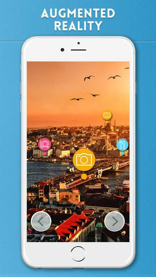 Useful Istanbul Travel Guide with Augmented Reality: https://itunes.apple.com/us/app/istanbul-travel-guide/id351054129?l=en&ls=1&mt=8 by #eTips