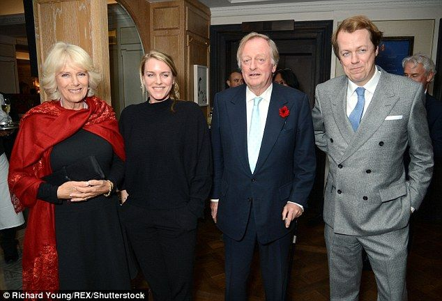 Left to right: Camilla Duchess of Cornwall, Laura Lopes, Andrew Parker Bowles and Tom Parker Bowles
