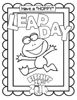 coloring pages for leap year - photo#18