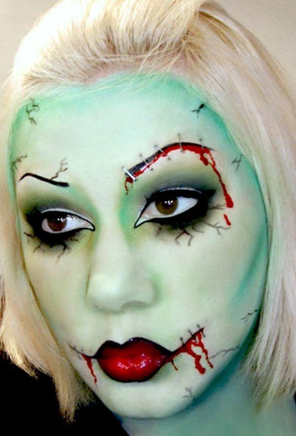 gr nes halloween zombie schminken kost mideen. Black Bedroom Furniture Sets. Home Design Ideas