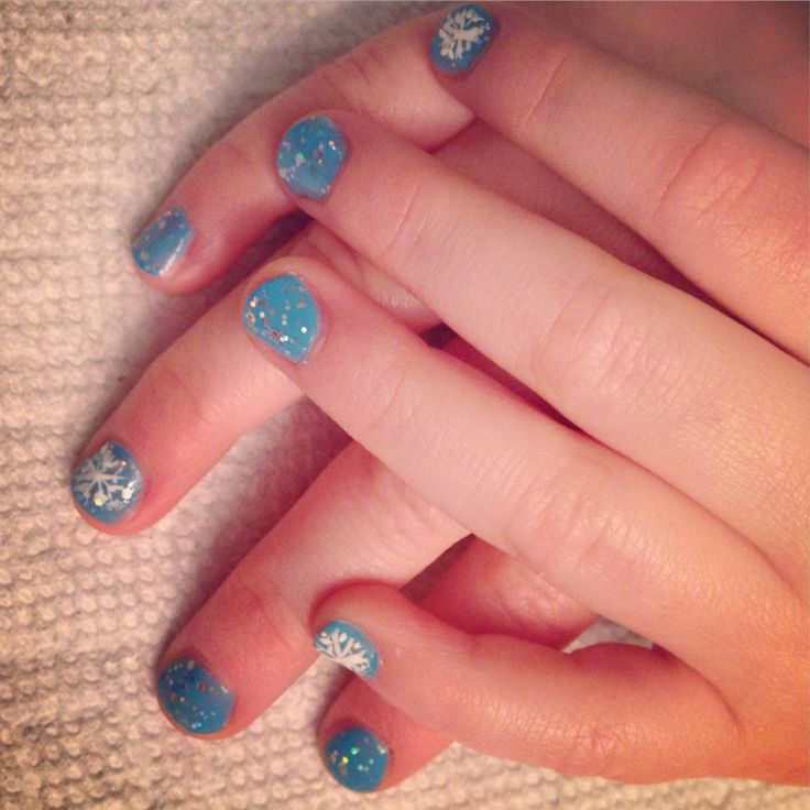 Frozen Nail Design For Little Girl