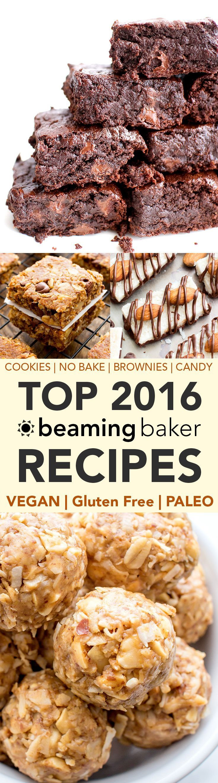 Top 2016 Recipes: A thrilling & sometimes nostalgic look back on the top 2016 recipes on Beaming Baker. Vegan, Gluten Free, Dairy-Free and Paleo treats. #Vegan #GlutenFree #Paleo #BeamingBaker