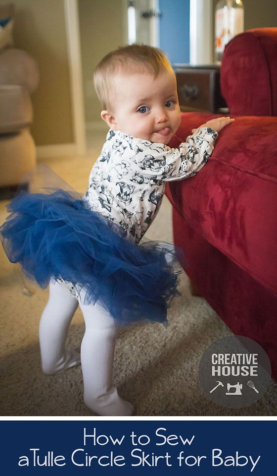 How to: Tulle Circle Skirt / Tutu for Baby | Creative House Blog